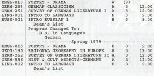 Transcript grading